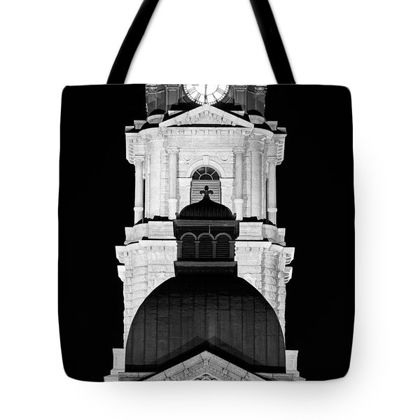 Tarrant County Courthouse Bw V1 020815 Tote Bag