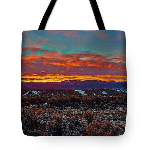 Taos Sunrise Tote Bag