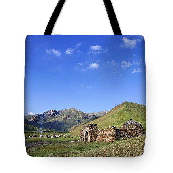 Tash Rabat Caravanserai In The Tash Rabat Valley Of Kyrgyzstan  Tote Bag by Robert Preston