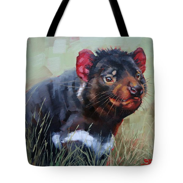 Tasmanian Devil Tote Bag by Margaret Stockdale