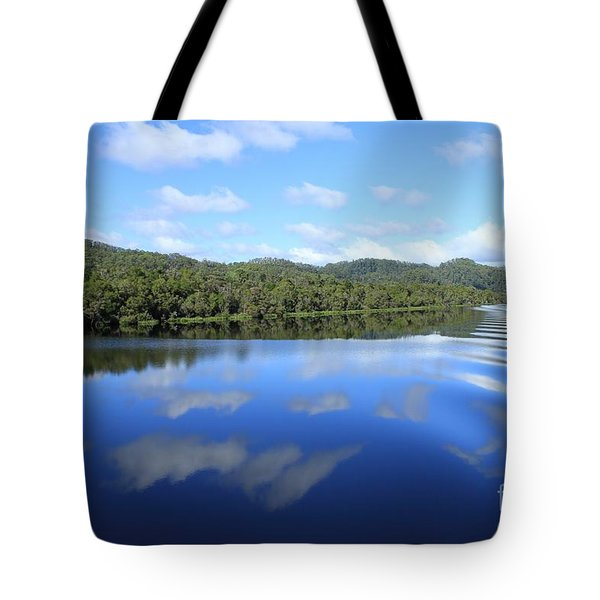 Tasmanian Reflexions All Profits Go To Hospice Of The Calumet Area Tote Bag