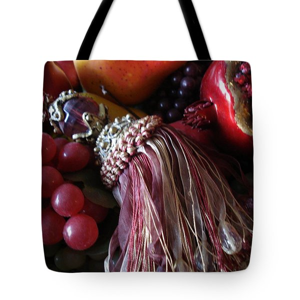 Tassel With Fruit Tote Bag