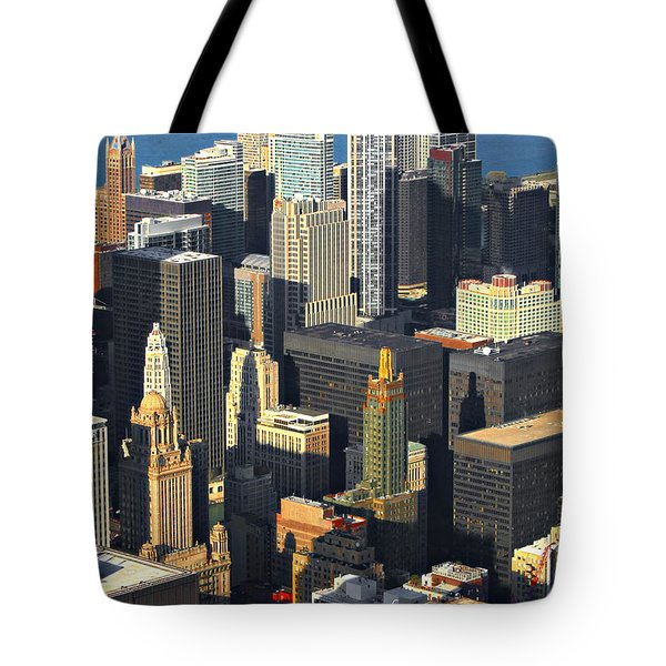 Taste Of Chicago From Above Tote Bag by Christine Till
