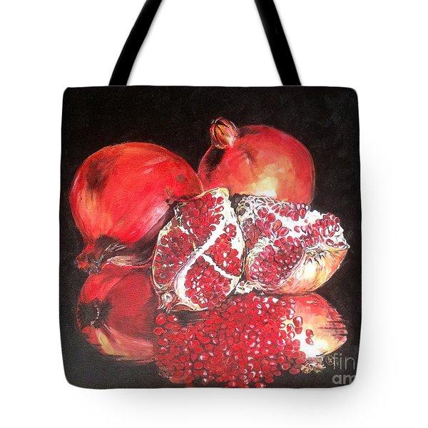 Taste Of Red Tote Bag by Iya Carson