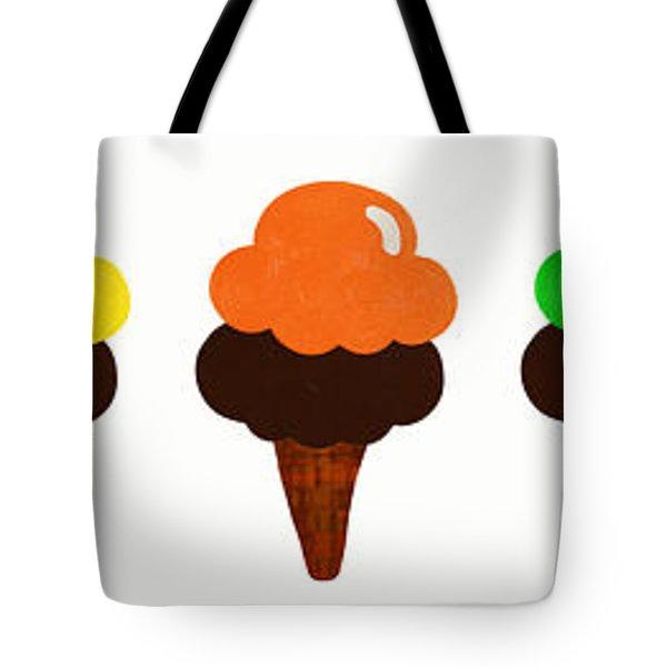 Taste The Ice Cream Rainbow Tote Bag