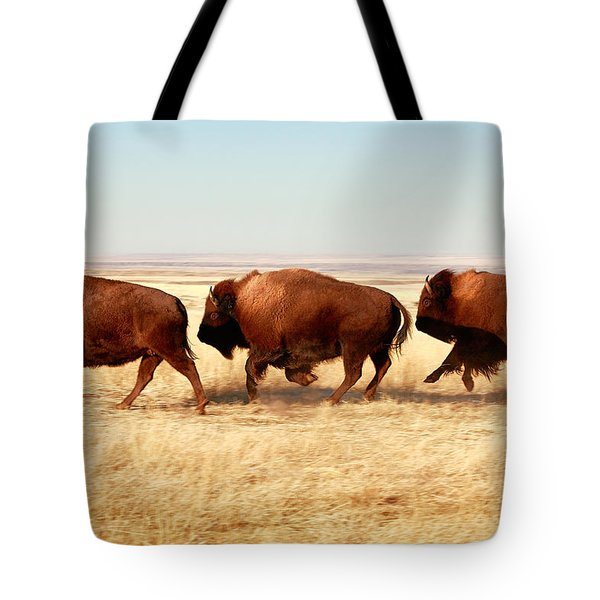 Tote Bag featuring the photograph Tatanka by Todd Klassy