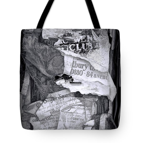 Tattered And Torn Tote Bag by Randall Nyhof