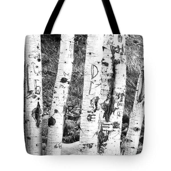 Tattoo Trees Tote Bag by Rebecca Margraf