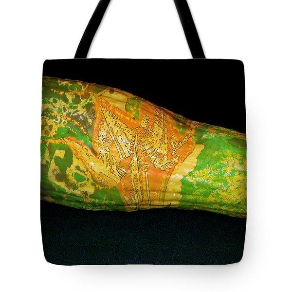 Tattooed Squash Tote Bag by Barbara S Nickerson