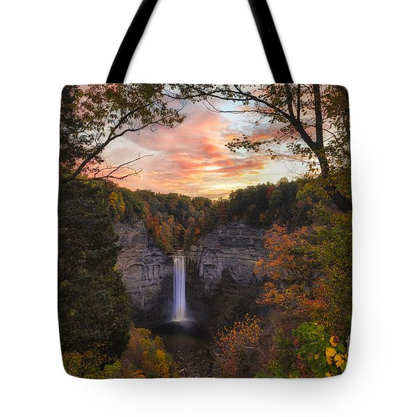 Taughannock Falls Autumn Sunset Tote Bag