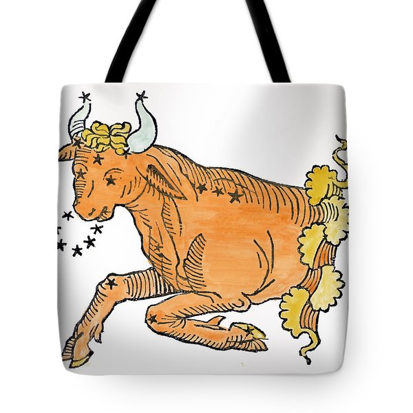 Taurus An Illustration Tote Bag by Italian School