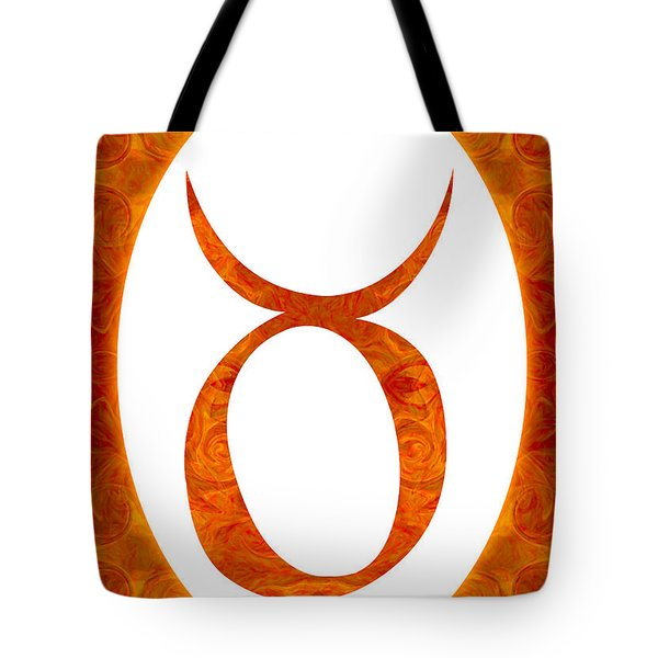 Taurus And Sacral Chakra  Abstract Spiritual Artwork By Omaste W Tote Bag