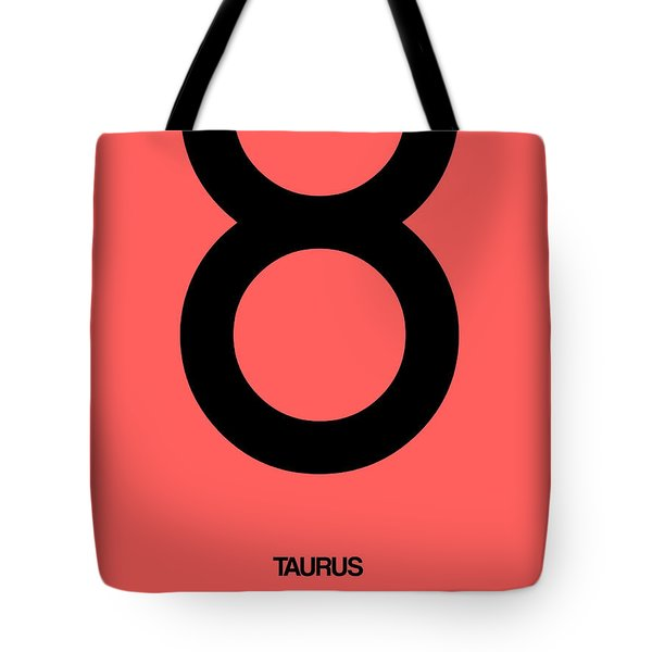 Taurus Zodiac Sign Black  Tote Bag by Naxart Studio
