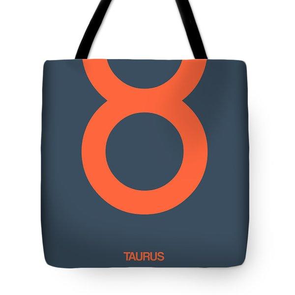 Taurus Zodiac Sign Orange Tote Bag