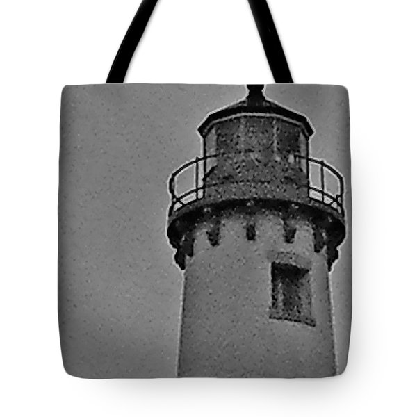 Tote Bag featuring the photograph Tawas Point In The Rain by Daniel Thompson