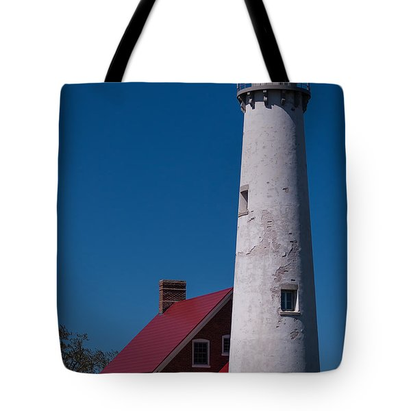 Tote Bag featuring the photograph Tawas Point Lighthouse by Patrick Shupert