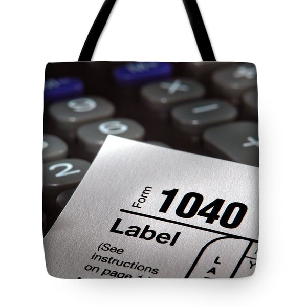 Tax Form 1040 Tote Bag