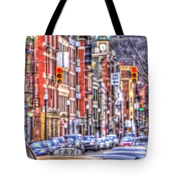 Taxi Tote Bag by Daniel Sheldon