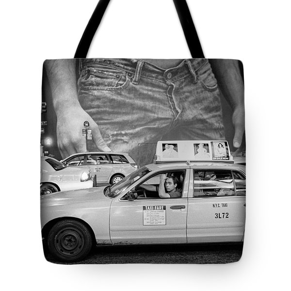 Taxis On Fifth Avenue Tote Bag