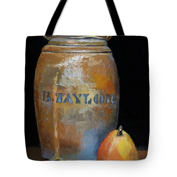 Taylor Jug With Pear Tote Bag