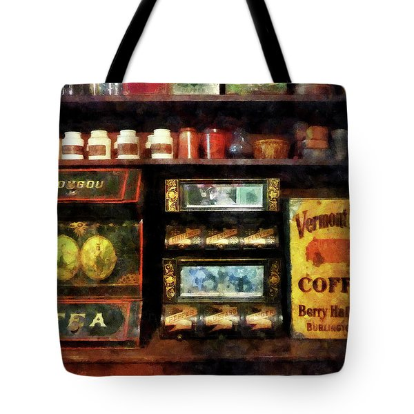 Tote Bag featuring the photograph Tea And Coffee by Susan Savad