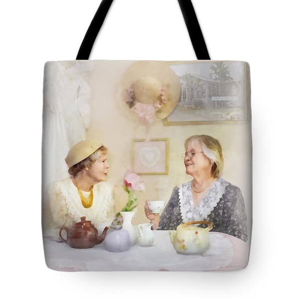 Tea And Talk Tote Bag