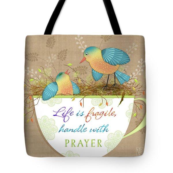 Tea Cup Wisdom Tote Bag