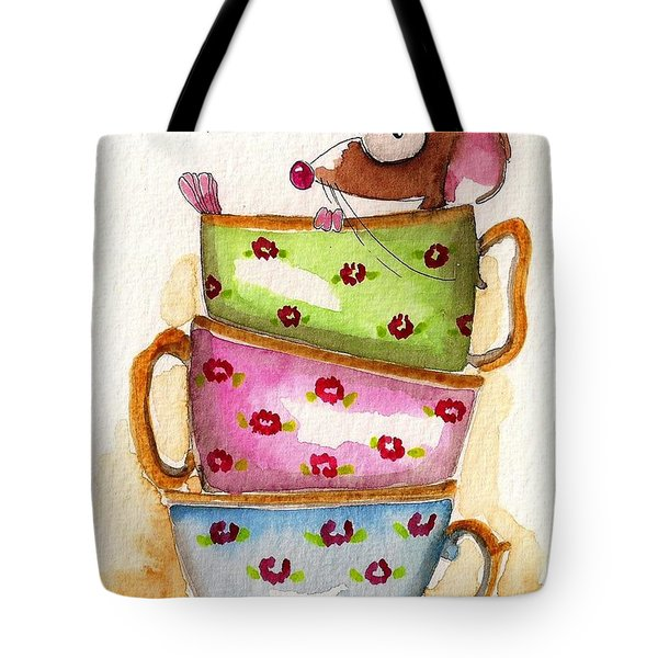 Tea For One Tote Bag by Lucia Stewart