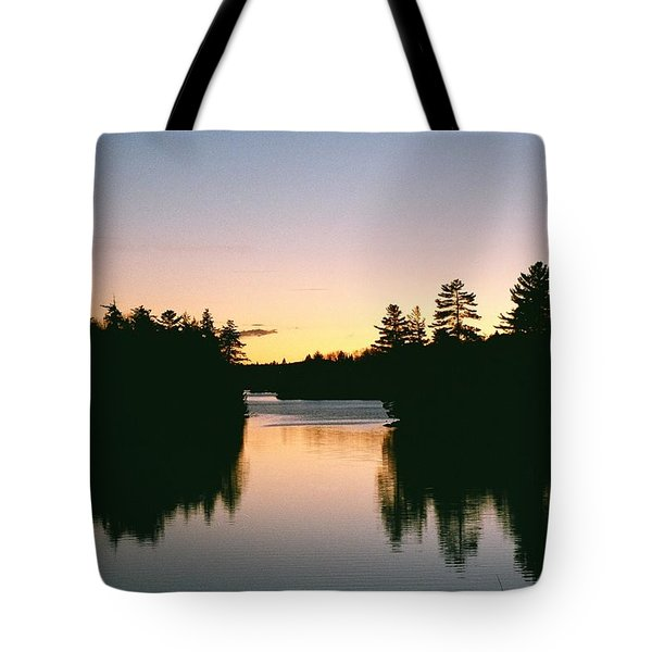 Tea Lake Sunset Tote Bag
