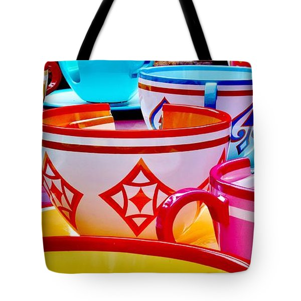 Tote Bag featuring the photograph Tea Party by Benjamin Yeager