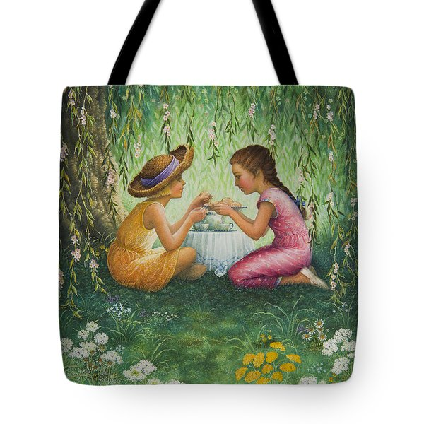 Tea Party Tote Bag by Lynn Bywaters
