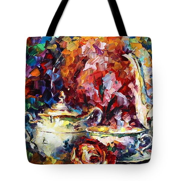 Tea Time 2 Tote Bag by Leonid Afremov