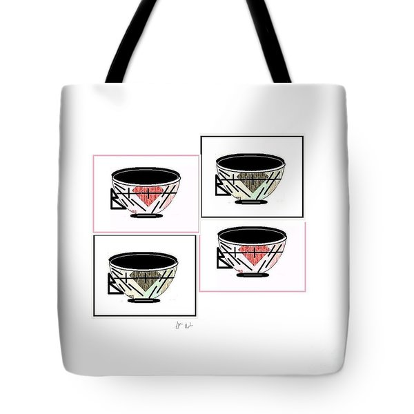 Tote Bag featuring the digital art Tea Time 2 by Ann Calvo