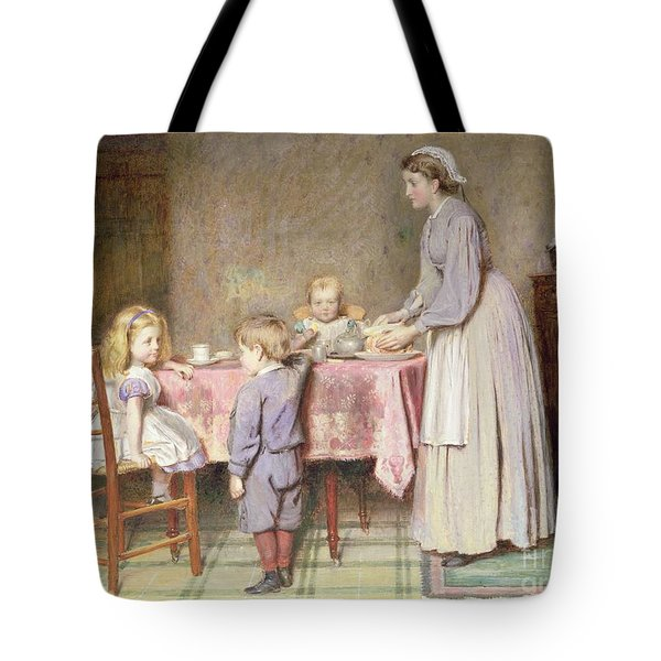 Tea Time Tote Bag by George Goodwin Kilburne
