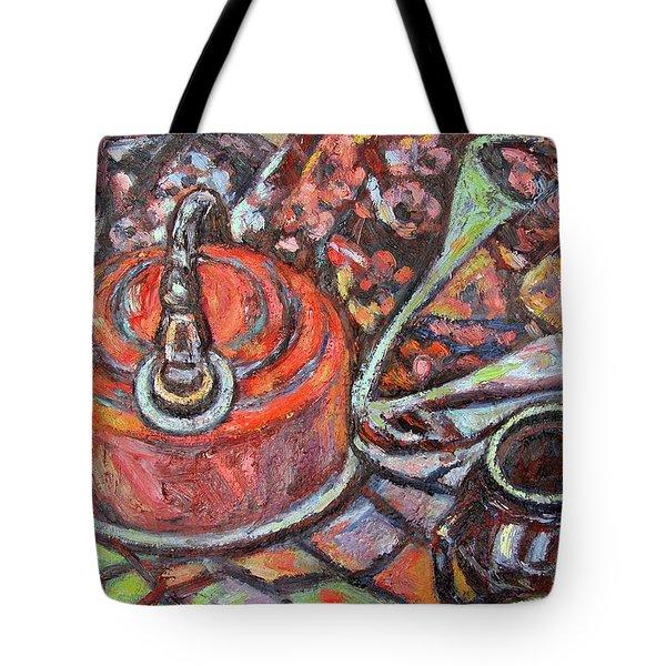 Tea Time Tote Bag by Kendall Kessler