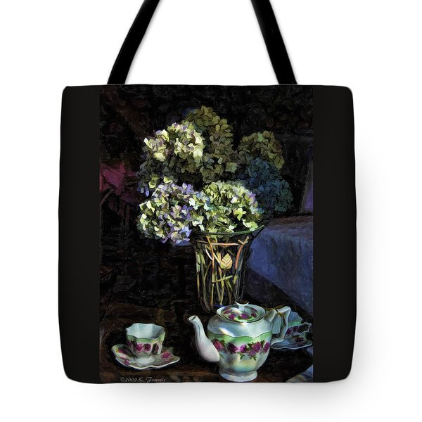 Tote Bag featuring the photograph Tea Time by Kenny Francis