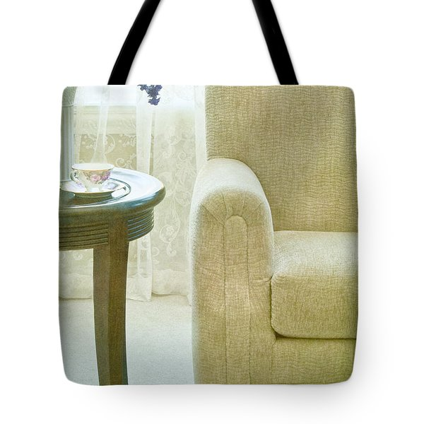 Tea Time Tote Bag by Margie Hurwich