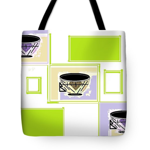 Tote Bag featuring the digital art Tea Time by Ann Calvo
