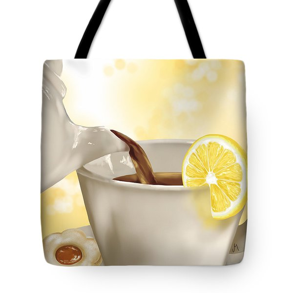 Tea Time Tote Bag by Veronica Minozzi