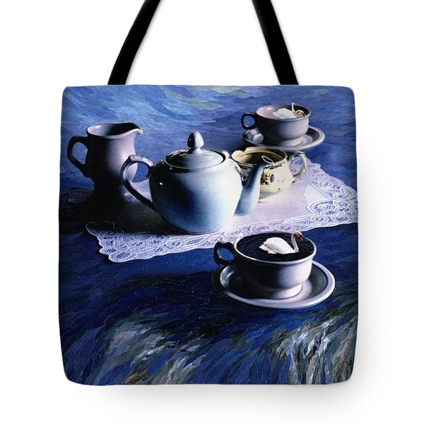 Tea Time With Gordy, 1998 Paper Mosaic Collage Tote Bag