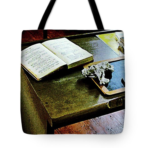 Teacher - Blackboard And Book Tote Bag by Susan Savad