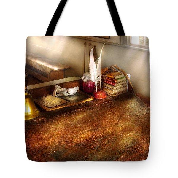 Teacher - The School Room Tote Bag by Mike Savad