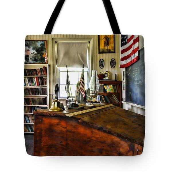 Teacher - Vintage Desk Tote Bag