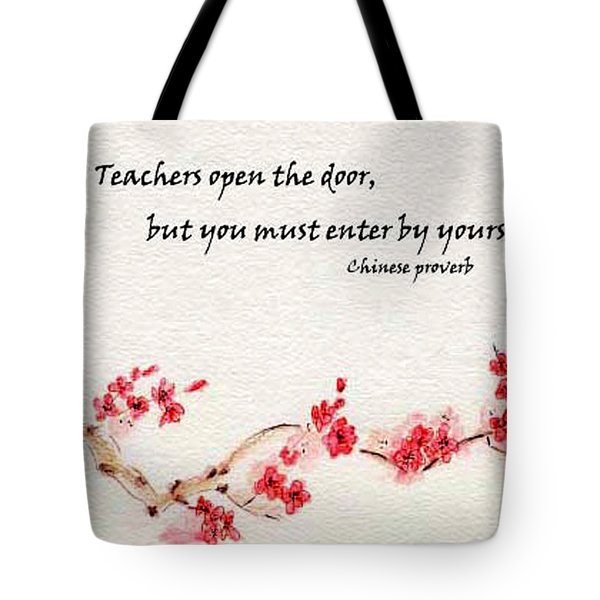 Teachers Open The Door Tote Bag