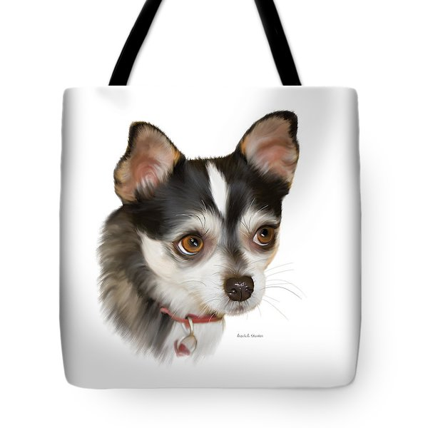 Teacup Chihuahua Tote Bag by Angela A Stanton