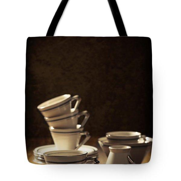 Teacups Tote Bag by Amanda Elwell