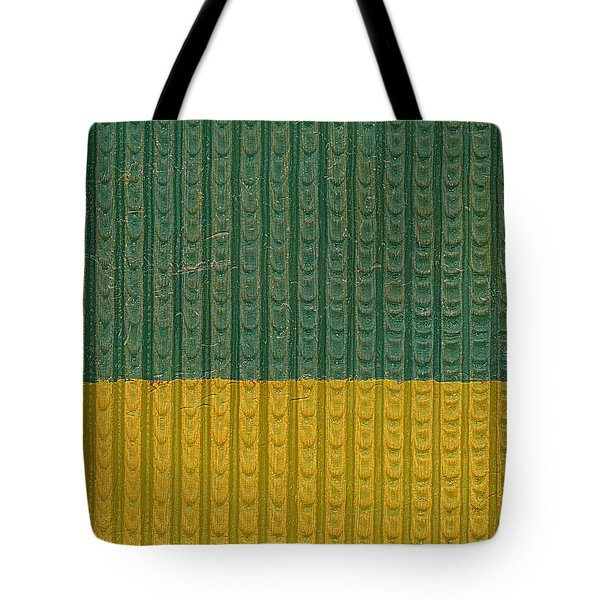Teal And Mustard Tote Bag by Michelle Calkins