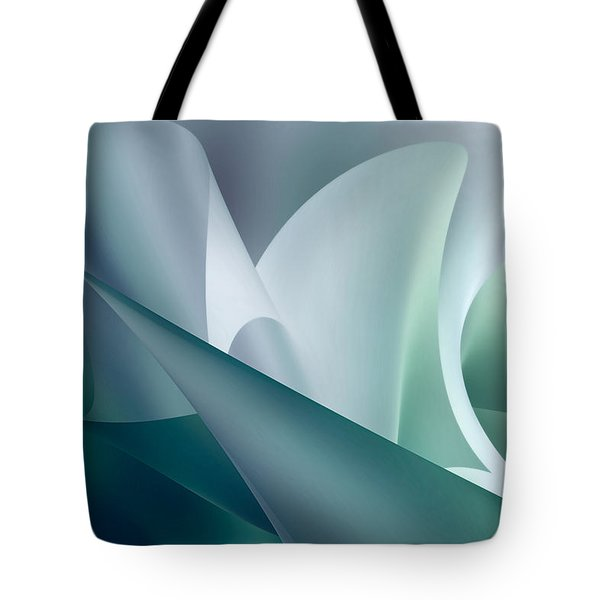 Teal Beam Tote Bag by Diane Dugas