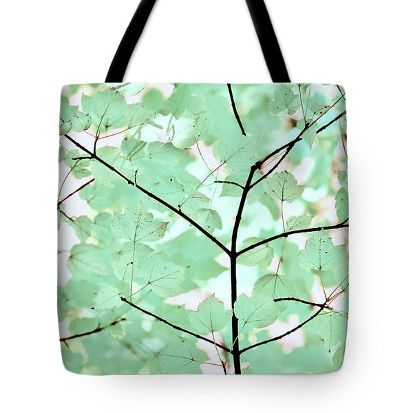 Teal Greens Leaves Melody Tote Bag by Jennie Marie Schell