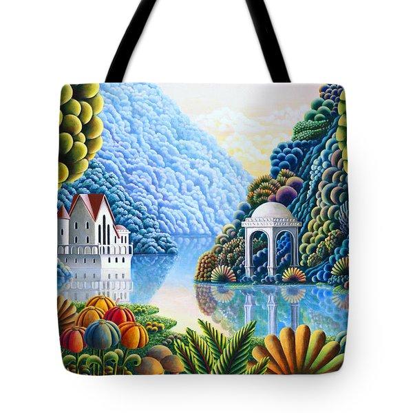 Teal Lake Tote Bag